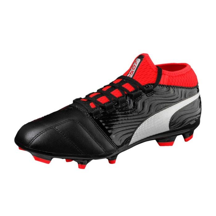 Puma One 18.3 FG Black / Silver / Red - Livraison Gratuite avec - Chaussures Football Homme