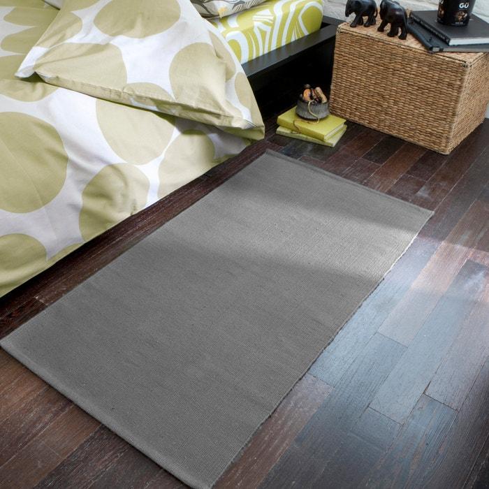 descente de lit coton junkan la redoute interieurs gris. Black Bedroom Furniture Sets. Home Design Ideas