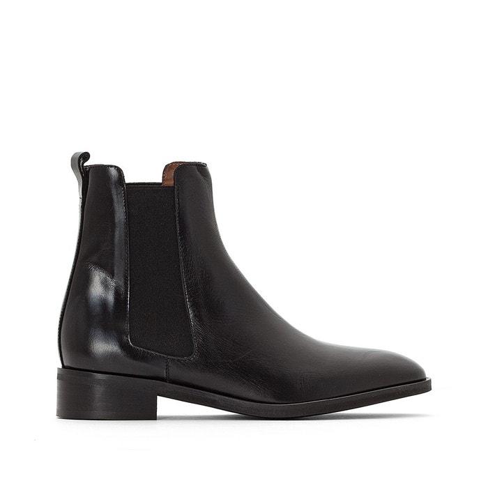 Boots Jonak, en croute de cuir, pointure 39, noires; prix