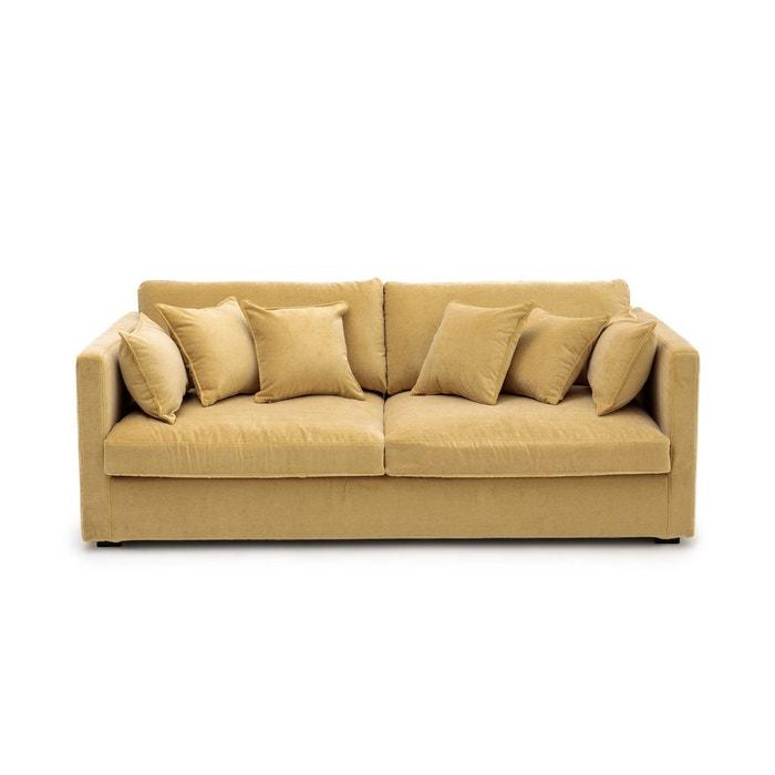 canap fixe n o kinkajou velours stonewashed am pm la redoute. Black Bedroom Furniture Sets. Home Design Ideas