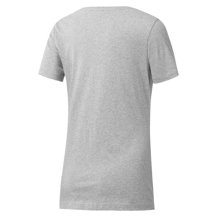 REEBOK manga cuello estampado corta Camiseta redondo y con delante de 8rxrE1qpw