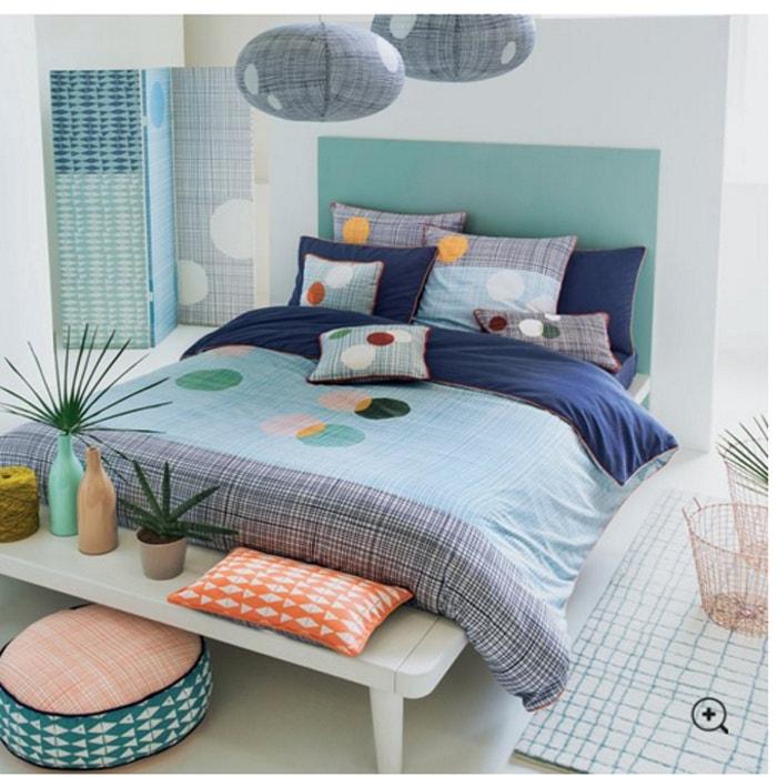 tapis eclipse atelier lzc blanc cass bleu imprim la. Black Bedroom Furniture Sets. Home Design Ideas