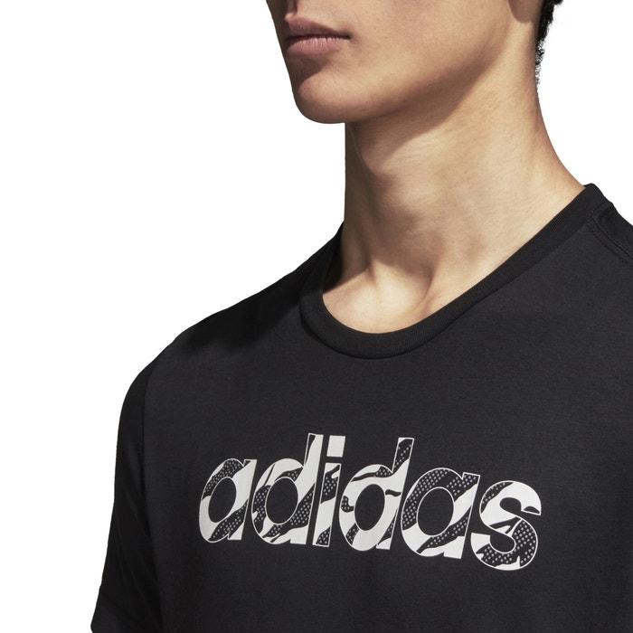 cuello y delante manga PERFORMANCE corta estampado redondo Camiseta de ADIDAS con tZwBqxXWwO