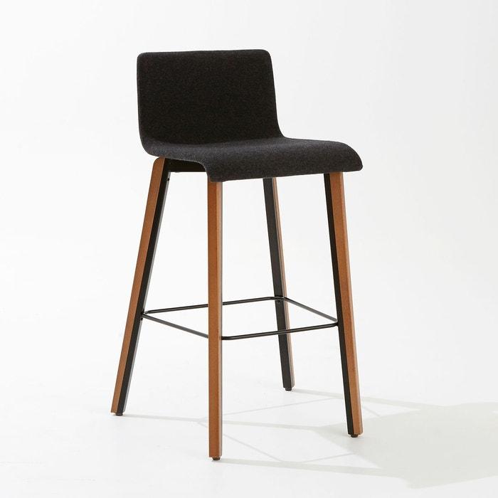 chaise de bar joan gris anthracite la redoute interieurs la redoute. Black Bedroom Furniture Sets. Home Design Ideas