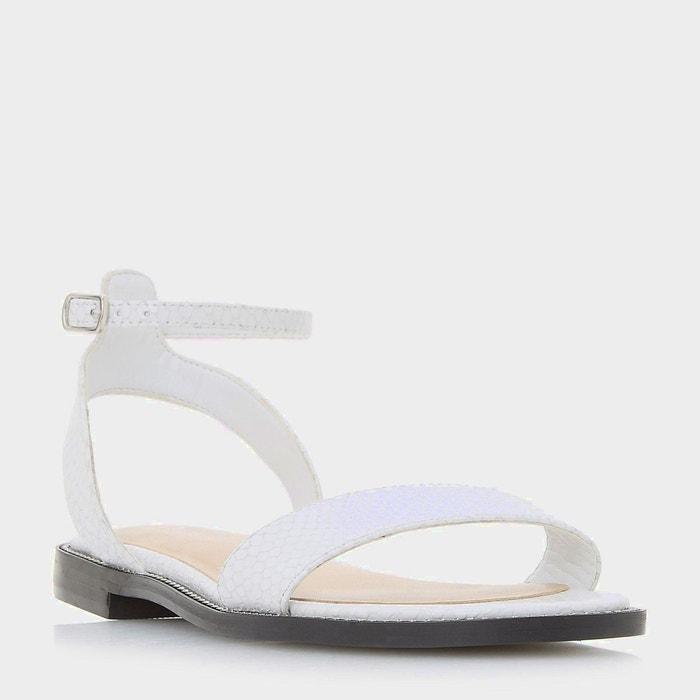 Sandales plates texturées en deux parties avec bordure cloutée - nance  Dune London  La Redoute
