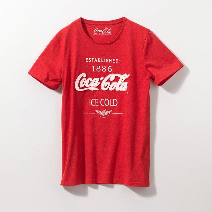Printed Short-Sleeved Crew Neck T-Shirt  COCA COLA image 0