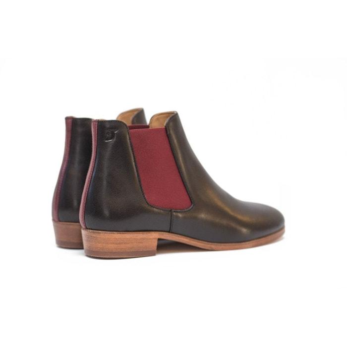 Chelsea boots en cuir noir Pied De Biche Paris