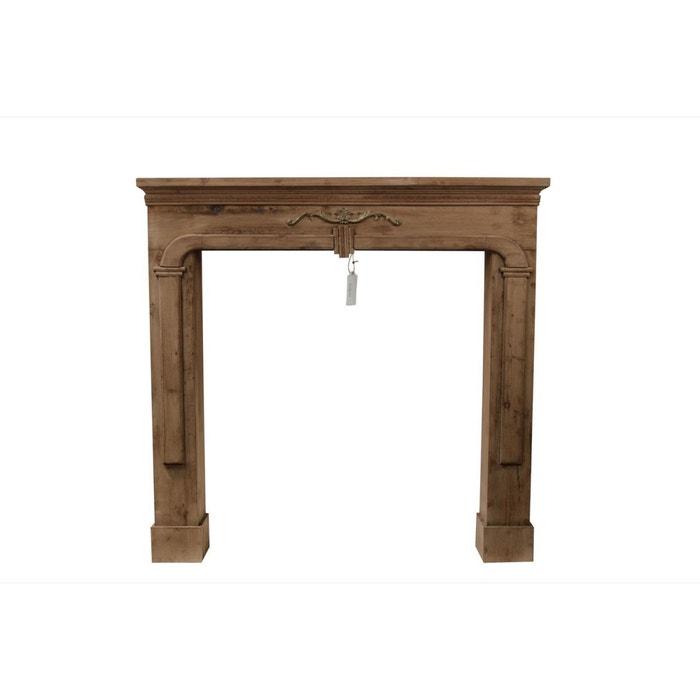 encadrement manteau cheminee 104x17x99cm marron decoration d autrefois la redoute. Black Bedroom Furniture Sets. Home Design Ideas