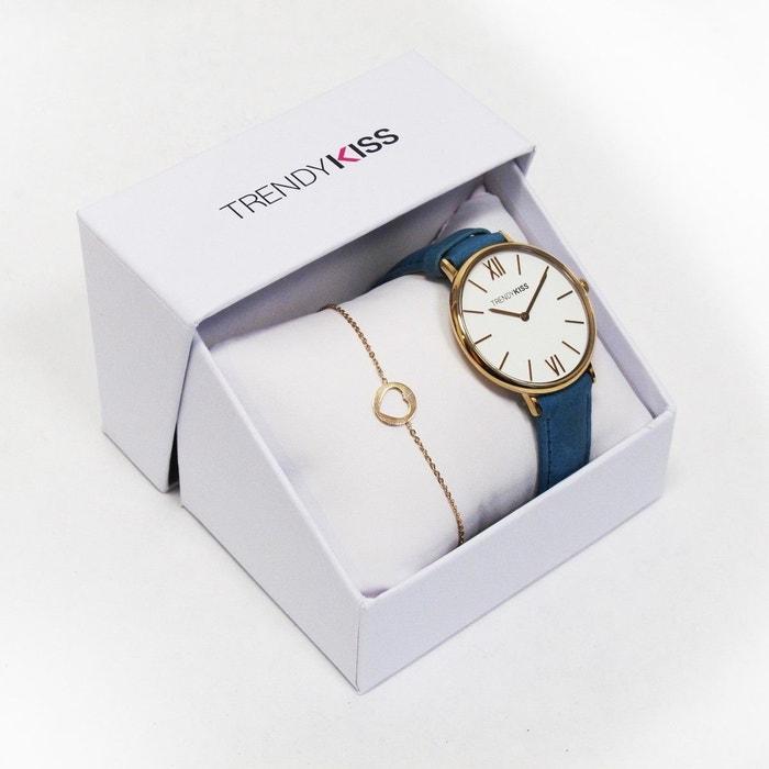 Coffret montre et bracelet acier inoxydable iris bleu Trendy Kiss | La Redoute Sortie Des Achats En Ligne Livraison Gratuite Boutique Offre 100% Authentique Paquet De Compte À Rebours Sortie VTOJXX