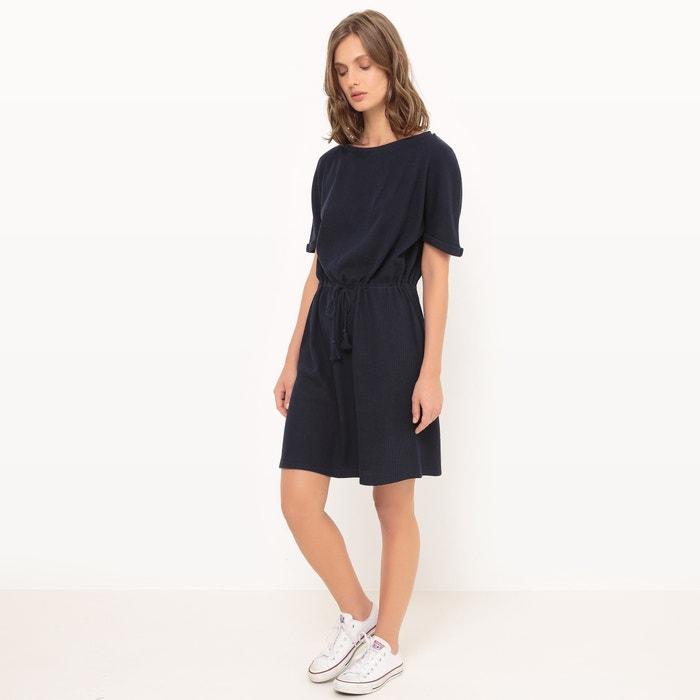 Платье с короткими рукавами, присборенная талия