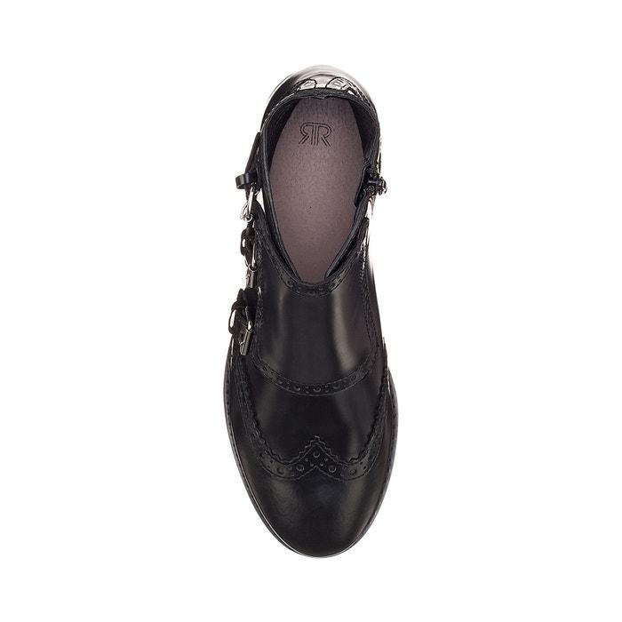 les bottes de cuir oute noir, la Rouge oute cuir collections 915165