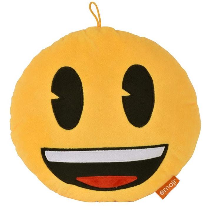 coussin rond emoji 30 cm sourire cbk la redoute. Black Bedroom Furniture Sets. Home Design Ideas