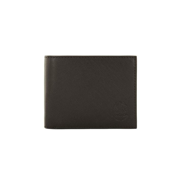 Portefeuille noir en cuir de vachette grain saffiano noir L'aiglon | La Redoute Footlocker Pas Cher En Ligne Finishline Cqcx9mhyG1