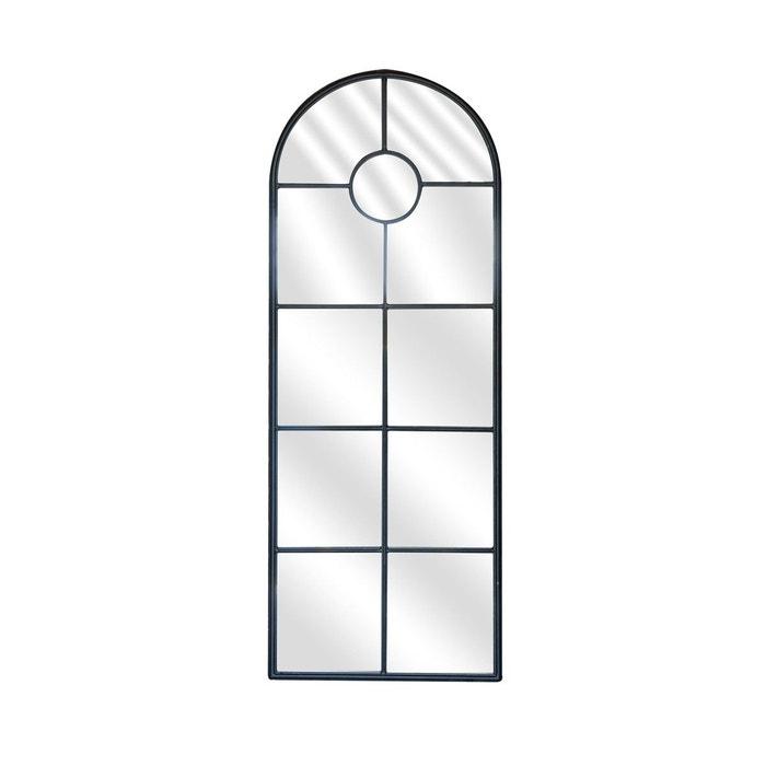 Miroir fen tre m tal fonc noir emde premium la redoute for Miroir fenetre metal