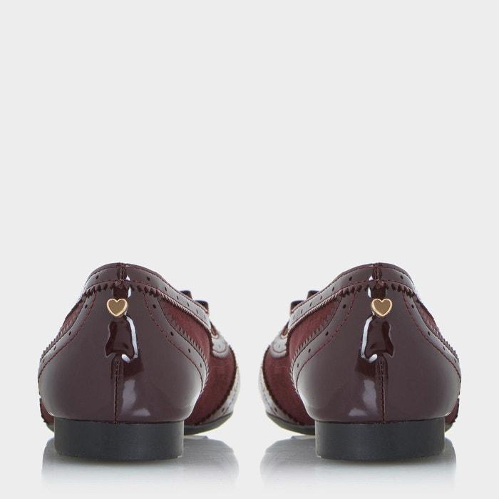 Mocassins style richelieu à enfiler - graicee bordeaux synthétique Head Over Heels By Dune