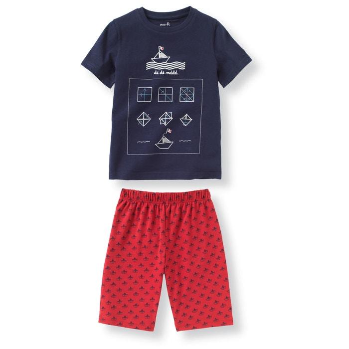 Imagen de Pijama con short estampado ''barquito'' 2-12 años abcd'R