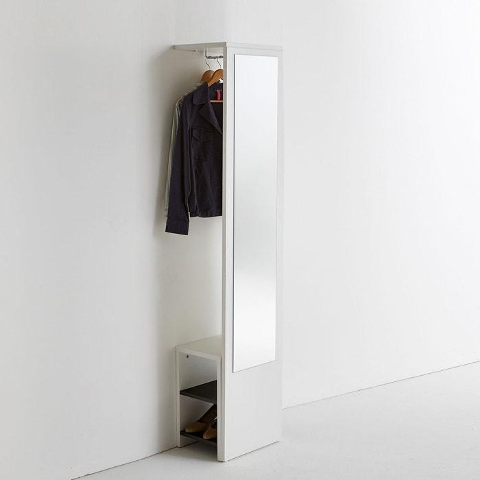 Vestiaire mural avec miroir et banc reynal blanc la redoute interieurs la - La redoute porte manteau ...