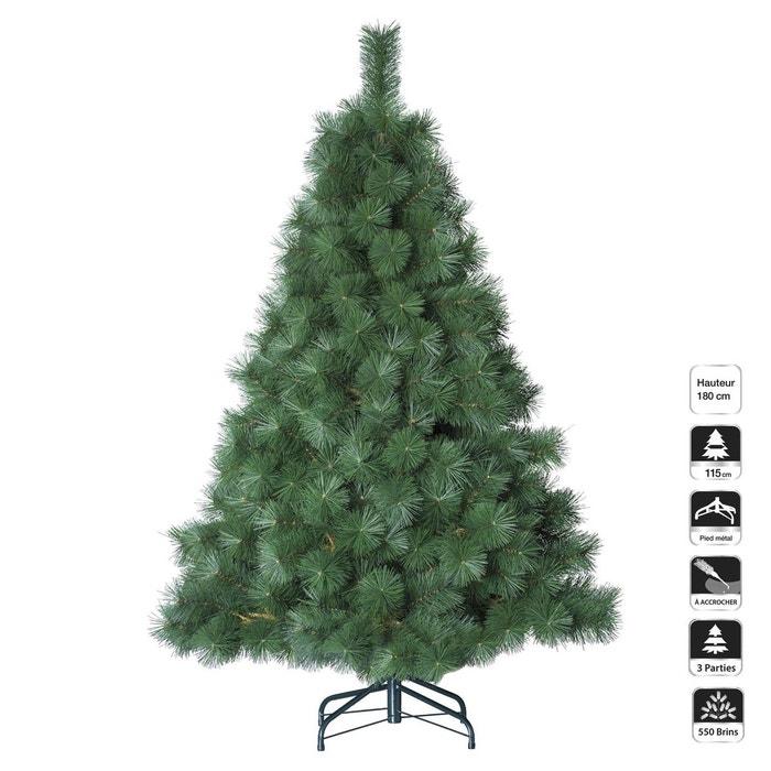 sapin de no l artificiel aiguilles larges h 180 cm vert vert feerie christmas la redoute. Black Bedroom Furniture Sets. Home Design Ideas