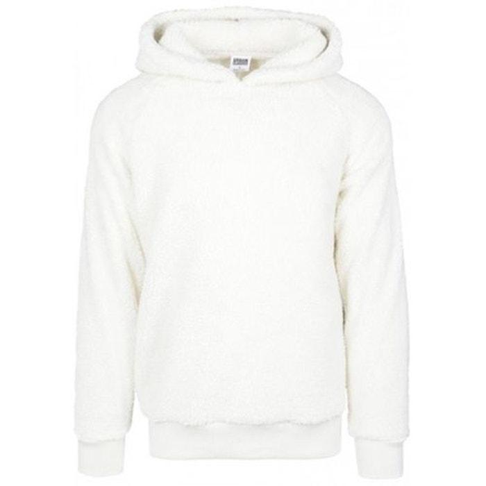 9f089b9edc807 Sweat capuche sherpa blanc Urban Classics   La Redoute