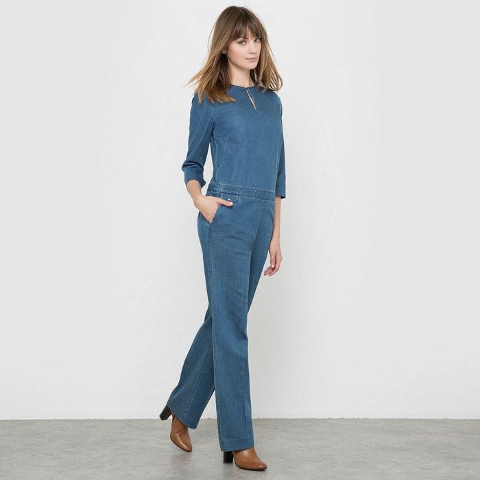 combinaison pantalon jean bleu stone la redoute. Black Bedroom Furniture Sets. Home Design Ideas