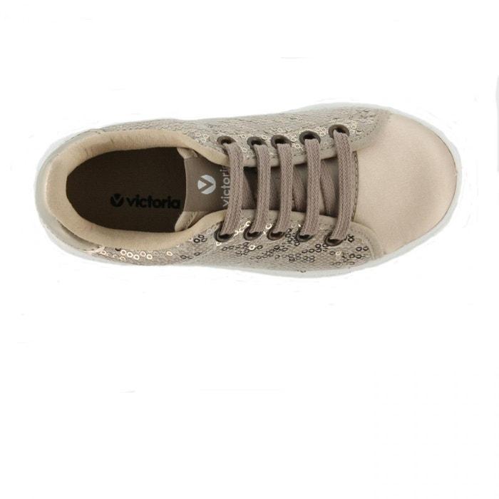 Chaussures deportivo lentejuelas platino w jaune Victoria