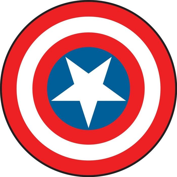 Stickers bouclier captain america marvel blanc bleu - Bouclier capitaine america ...