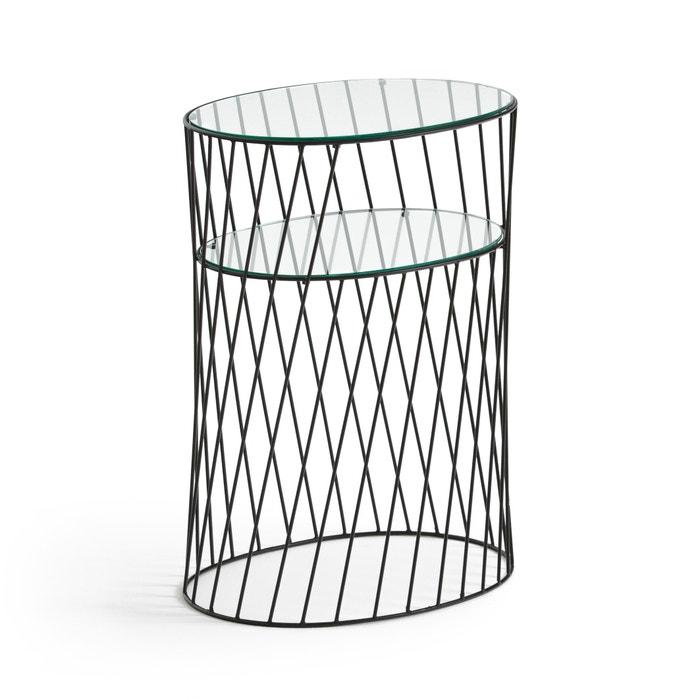 Bijzettafel In Glas.Bijzettafel In Metaal En Glas Elori Zwart La Redoute Interieurs La