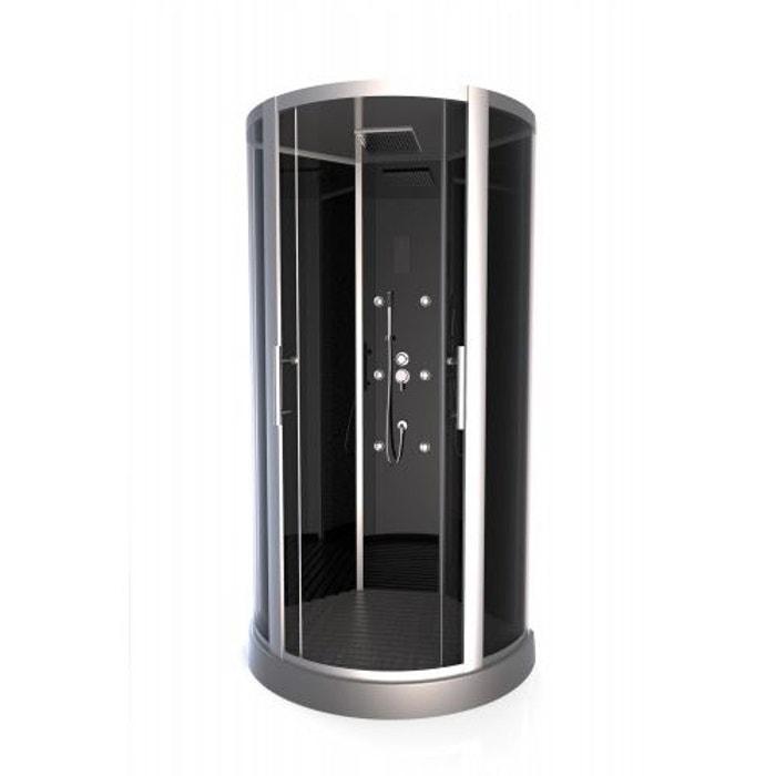 cabine de douche 39 premium round 39 gris home bain la redoute. Black Bedroom Furniture Sets. Home Design Ideas