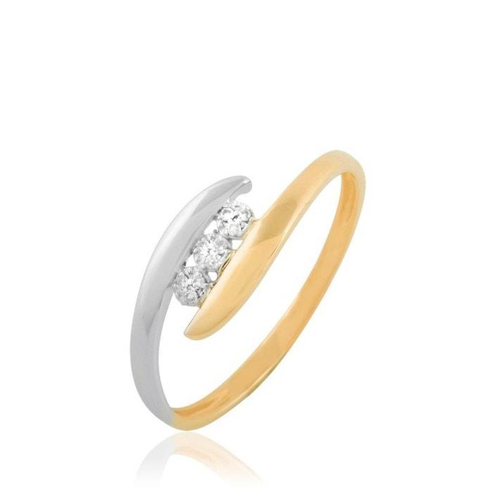 Bague or et diamant bicolore Histoire D'or   La Redoute Marque Discount Neuf Unisexe Livraison Gratuite Le Plus Récent Bonne Vente En Ligne B9ktt