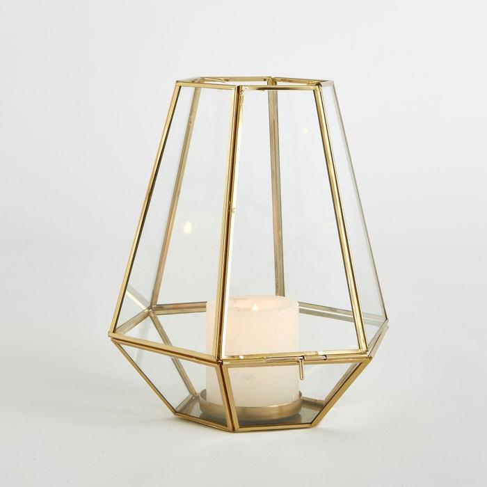 Suporte para vela em vidro e metal, Miludi  La Redoute Interieurs image 0