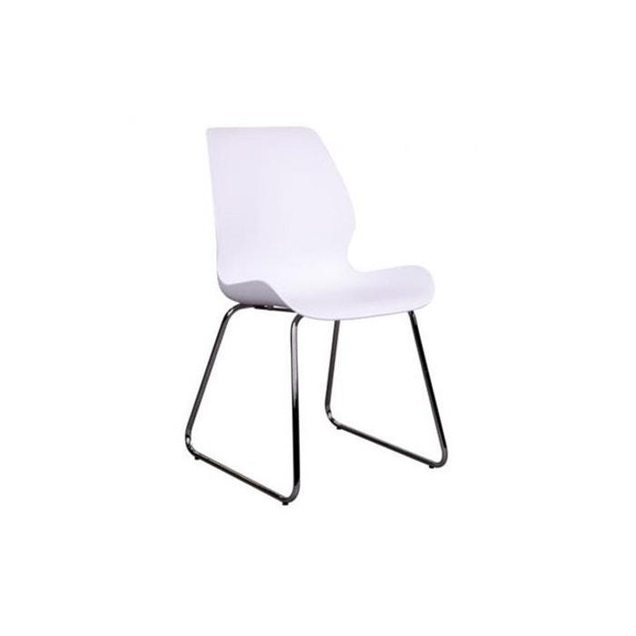 Chaise Design Blanche Jehanne Gris Declikdeco