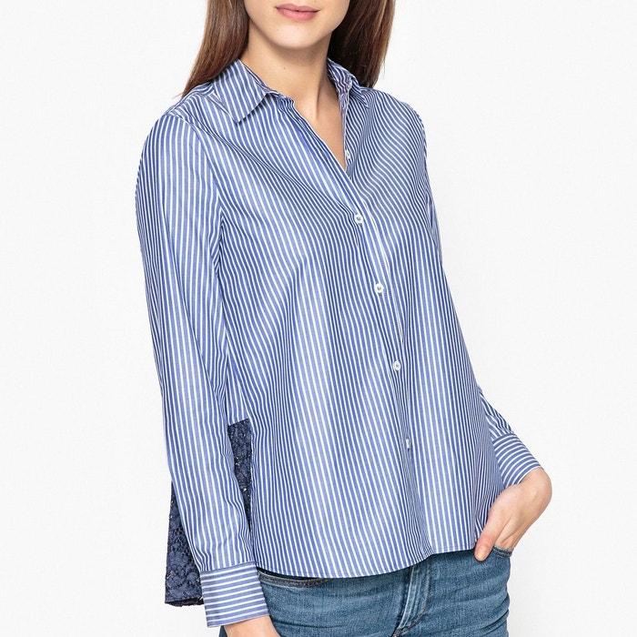 chemise ray e avec volant en dentelle moizelle blanc bleu paul and joe sister la redoute. Black Bedroom Furniture Sets. Home Design Ideas
