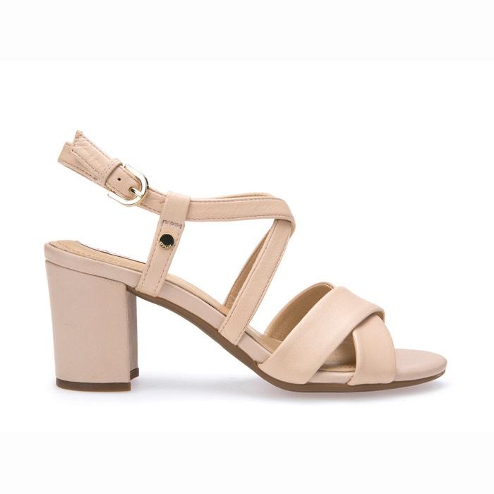 sandalen mit absatz d nesa c beige geox la redoute. Black Bedroom Furniture Sets. Home Design Ideas