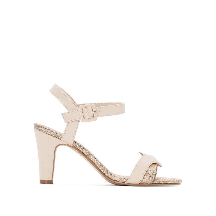 Sandales détail métallisées pied large 38-45 nude Castaluna