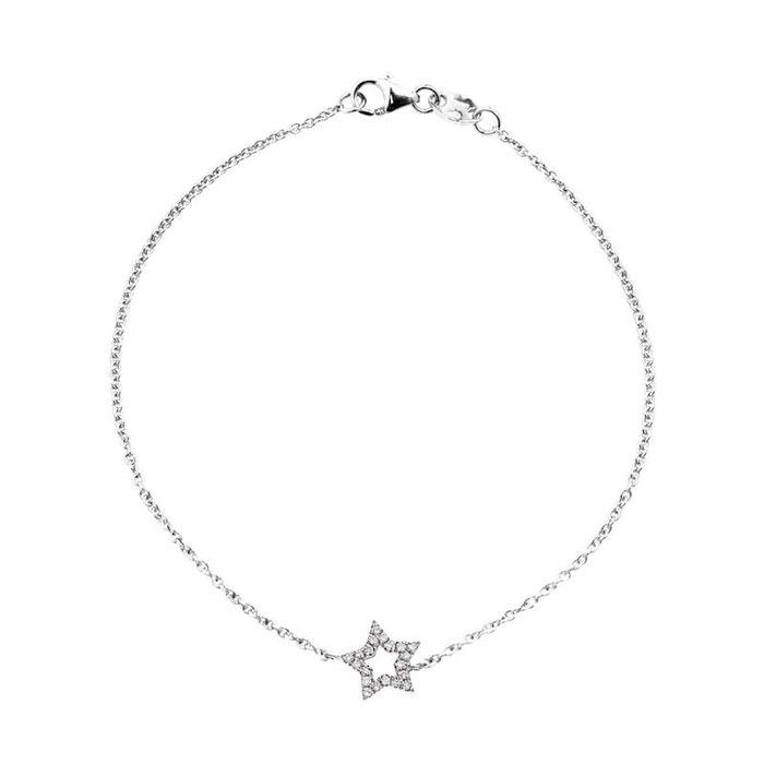 Obtenir Authentique Prix Pas Cher Fourniture Sortie Bracelet argent 925 millièmes rhodié avec motif etoile diamants blancs 0.12 Acheter Pas Cher Authentique populaire Meilleure Vente gT8UG3ZSj