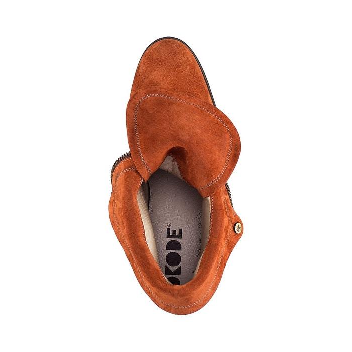Boots cuir walden noir Dkode