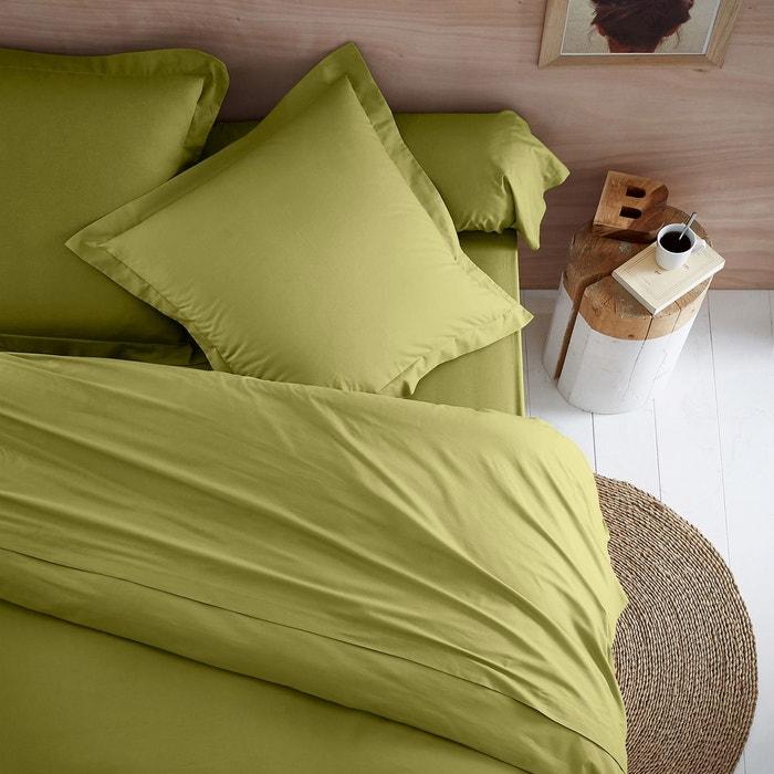 drap en coton biologique vert mousse scenario en solde la redoute. Black Bedroom Furniture Sets. Home Design Ideas