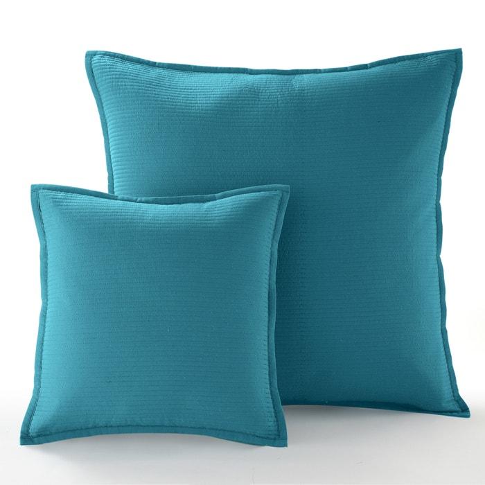 housse de coussin ou d oreiller betta bleu canard la redoute interieurs la redoute. Black Bedroom Furniture Sets. Home Design Ideas