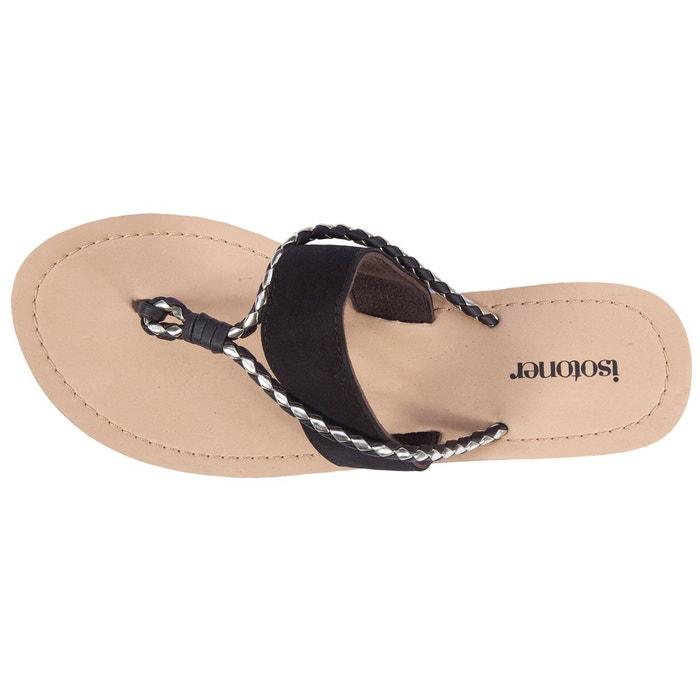 Sandales femme city marron Isotoner
