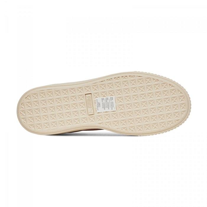Basket puma platform satin - ref. 365828-03 rose Puma