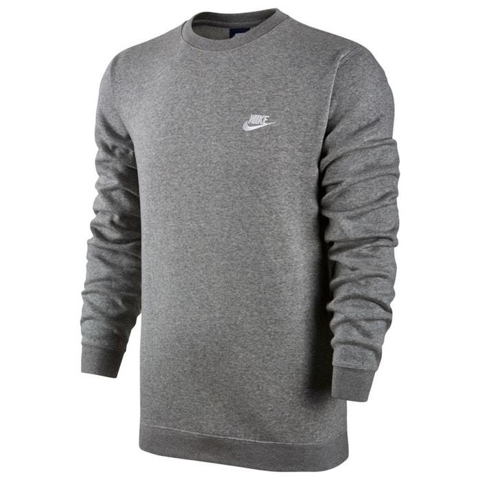 reputable site da6f6 11d07 Sweat col rond gris chiné Nike   La Redoute