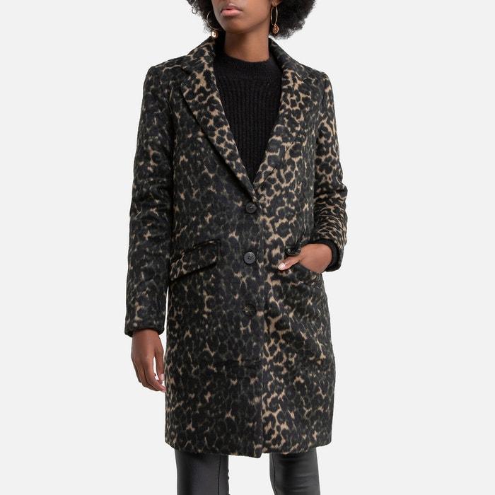Manteau mi long femme gris   La Redoute