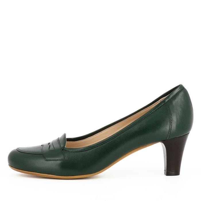 Escarpins femme vert foncé Evita