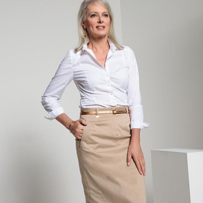 Camicia a maniche lunghe in popeline  ANNE WEYBURN image 0