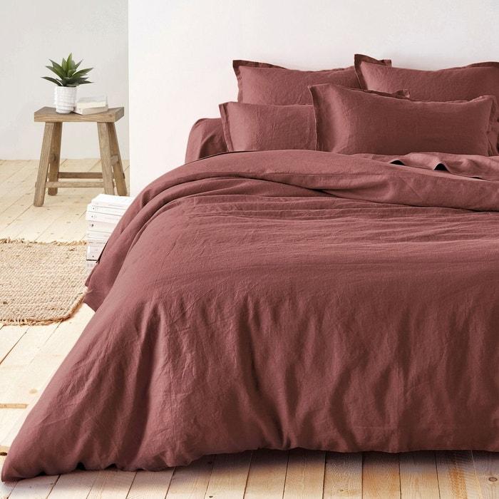 housse de couette pur lin lave la redoute interieurs la. Black Bedroom Furniture Sets. Home Design Ideas