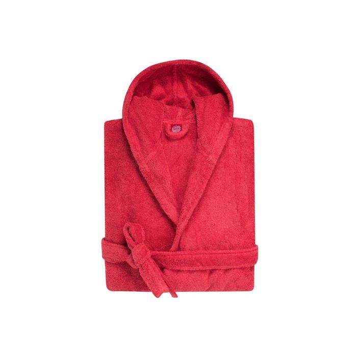 peignoir capuche enfant coton peign 450 g m rouge. Black Bedroom Furniture Sets. Home Design Ideas