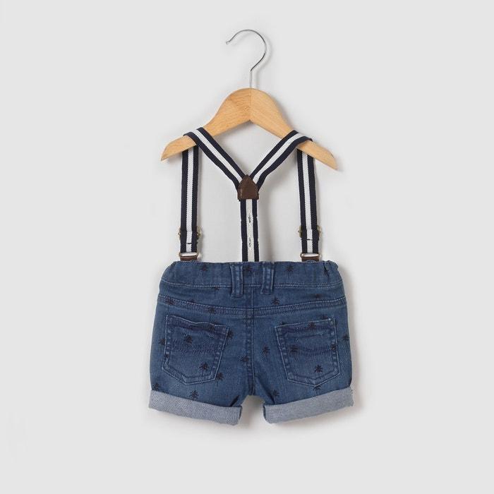 Printed Denim Shorts, 1 Month - 3 Years