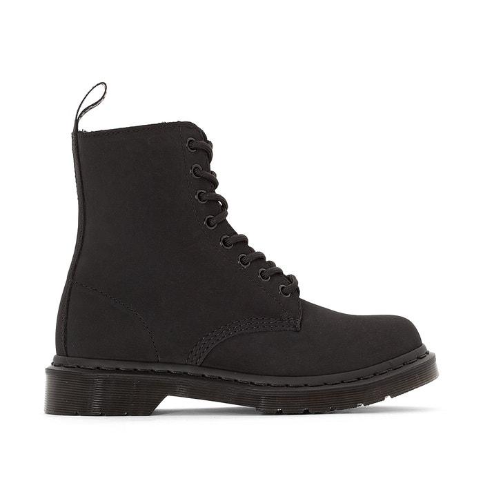 boots en cuir lacets pascal dr martens noir la redoute. Black Bedroom Furniture Sets. Home Design Ideas