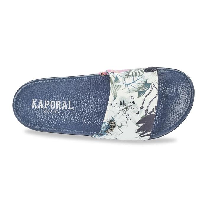 Mules tamira bleu marine imprimé Kaporal