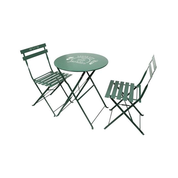 Table de jardin et 2 chaises Little Market